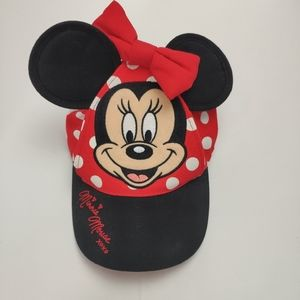 Minnie Mouse Disney Parks Toddler Hat w/Bow & Ears